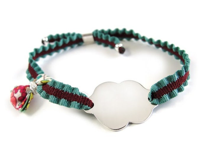 Gift for girl/Sterling silver/ small tassel/ ALICE