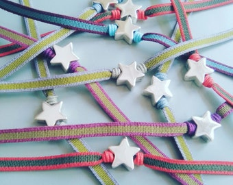 Little Star Sterling Silver Bracelet for girls.