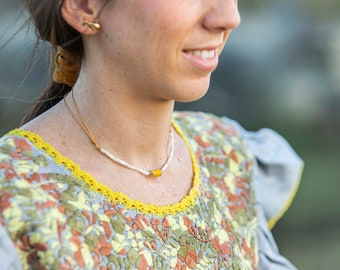 Dainty Fruit Earrings/ Vermeil/ Mexico silver/ enamel/ CHERRIES PEARS