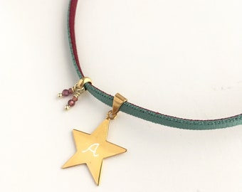 STELLA Star necklace/ stretch cord.