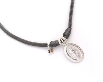 Miraculous Lady Medal Necklace/ Sterling silver.