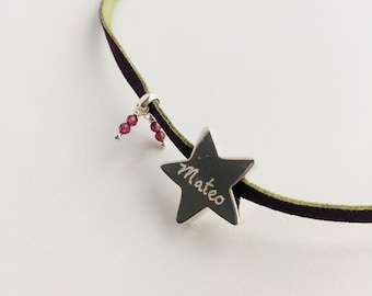 STELLA GRANATE Necklace with star.
