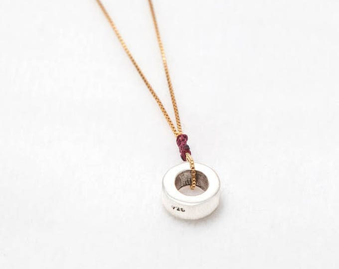 Necklace RONDANITA/ Sterling silver, gold dipped/ personalized.