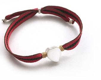 Sterling silver heart bracelet/ VALENTINA.