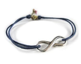 INFINITY Tassel Bracelet/ Sterling silver.