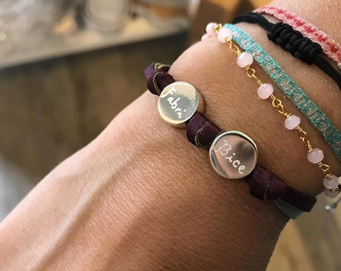 BORN Bracelet/ Sterling Silver/personalized.