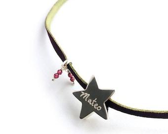 Necklace with star/STELLA GARNET.