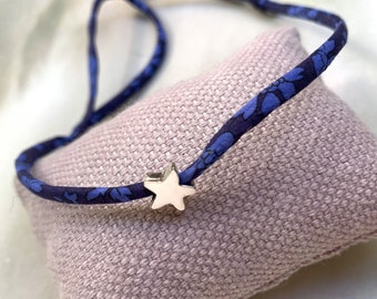 Gift for girl/ Tiny Star Necklace/ Liberty cord/ STELLA Mini