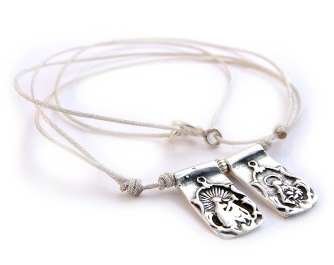 Sterling Silver Scapular/ personalized.