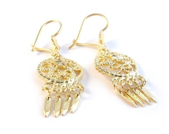 Earrings JOSEFINA / Filigree/ Mexican silver/Vermeil/ Dreamcatcher.