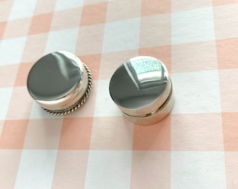 Small Sterling silver pill box/handmade/Mexican.