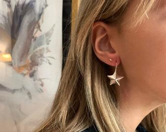 Star earrings/ Sterling silver/ Mexico/ STELLA.