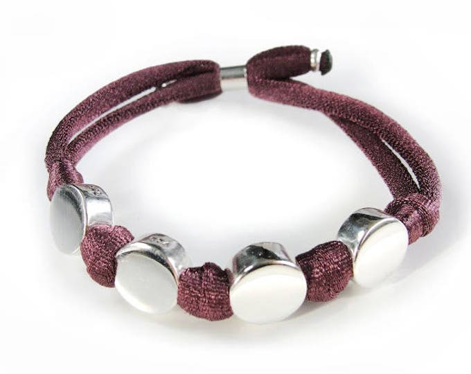 Bracelet BORN Unicolor/ name/stretch cord.