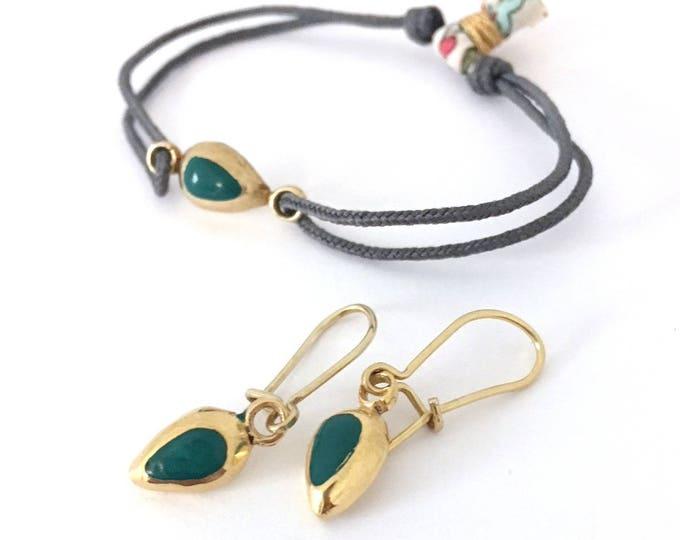 St. Valentines Day Gift/ bracelet & earrings/ DROP.