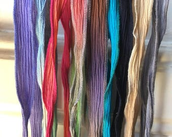 Silk Ribbons/natural dye.