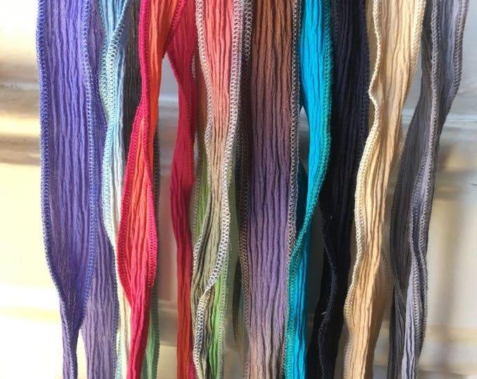 Silk Ribbons/natural dye.