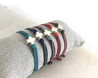 Small cross bracelet for children/ First Communion gift.
