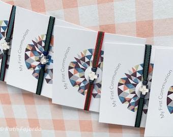 Pack of 6 First Communion Favor Gifts/ Little Cross Bracelets/ Sterling silver/ HOPE Bicolor