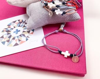 First Communion favor gift set/Cross Bracelet/personalized/ BELÉN