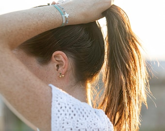 Nacre cross bracelet/cord/THERESA.