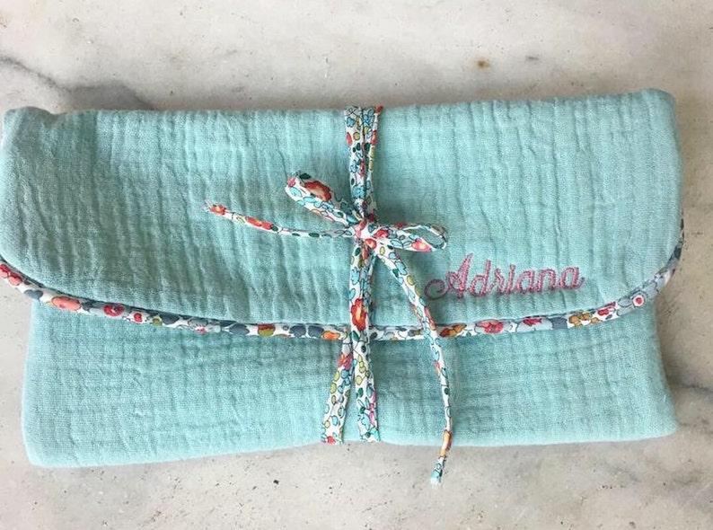 Cotton LIBERTY Flower Pattern Jewelry Case travel.