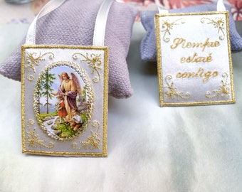 Guardian Angel cloth scapular for the home.