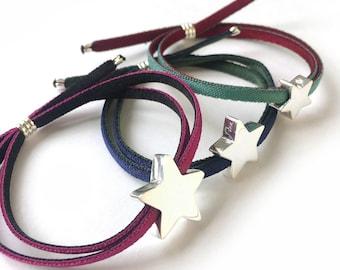 Silver Star bracelet/ personalized/ STELLA.