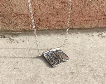 Catholic Scapular/Sterling silver.