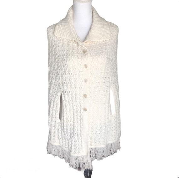 VTG 60s Americana Knitting Mills sweater cape