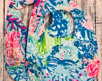 SALE!! Lilly Pulitzer Baby Bibs FREE SHIPPING