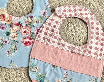 Baby Bibs - 3 Layers - Reversible - Bib - Custom Made