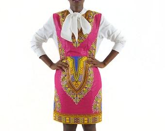 Hule Dashiki Dress _ African Print Dress _ Afrocentric Dashiki DRess _ Dashiki Outfit _ Dashiki Style