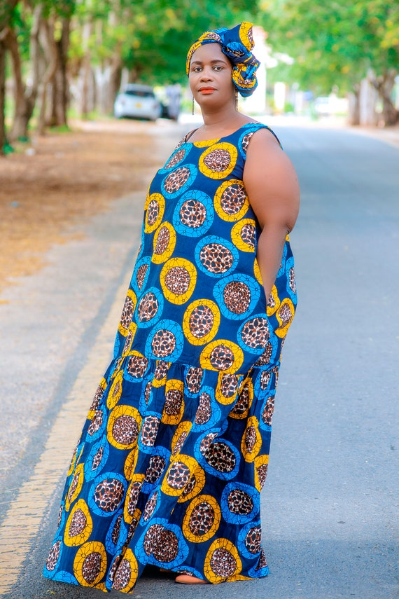 Plus Size African Clothing Women Maxi Dresses, Ankara Prints Long Dress,  Afrocentric Clothing, Afrikanische Kleider