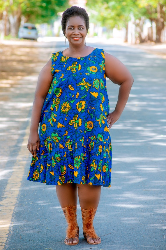 African Prints Plus Size Women Dresses, Ankara Prints Short Gown, African  Clothing, Afrocentric Dress, Kitenge Wear