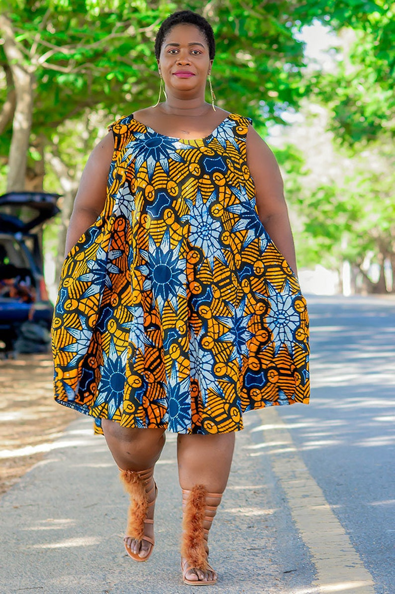 Plus Size African Clothing Dress for Women, Ankara African Prints Dress for  Curve Women, Summer Afrocentric Clothing, SIZE:XSmall to 5XLarge