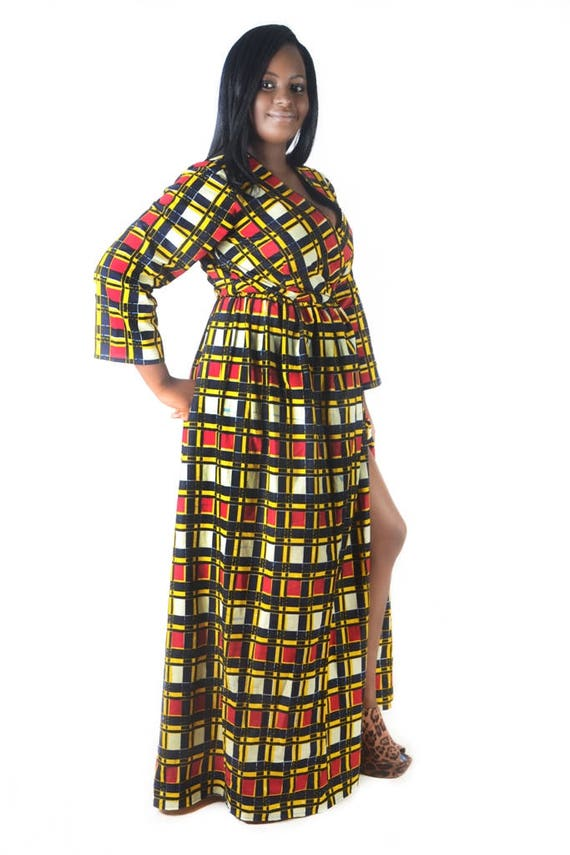 ca1b25882a2bd2 African Wrap Dress Made For Women Who Love Afrocentric