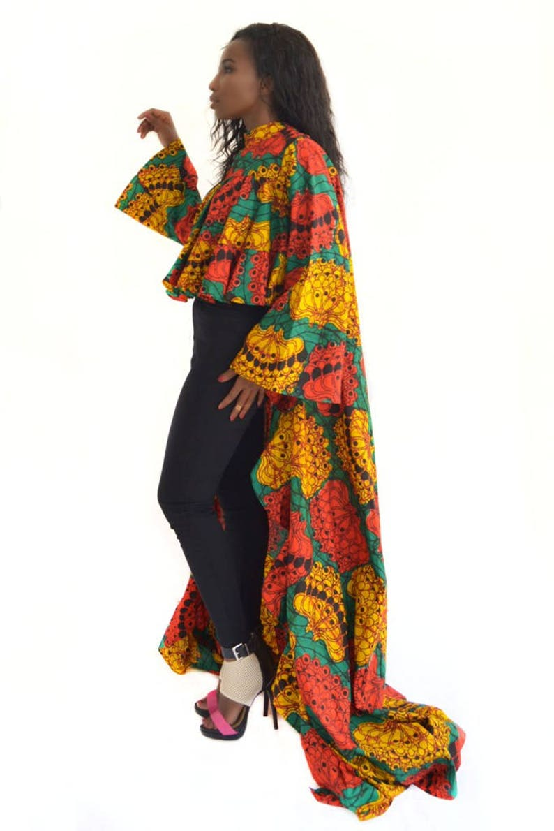 dbbd38a7d0b African Print Top For Women Ankara Long Occasional Blouse