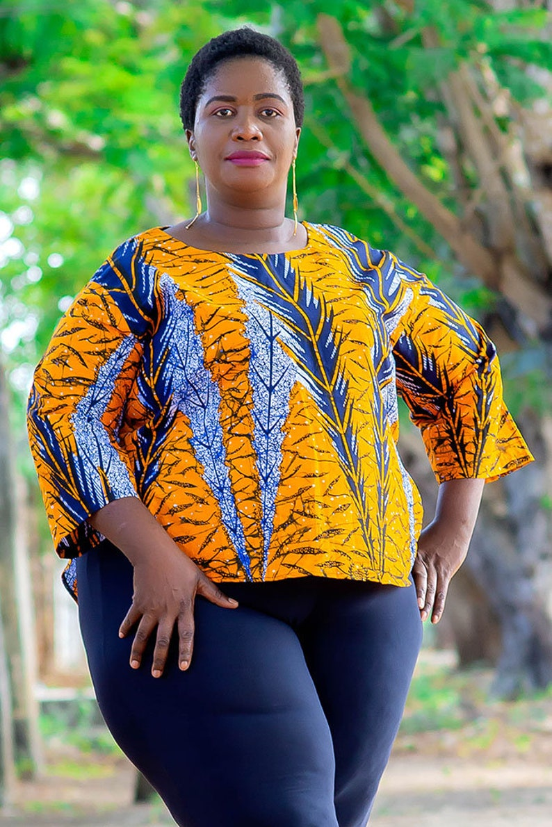 66554ee417bad African Print Top for Women in Plus Size and Regural Size