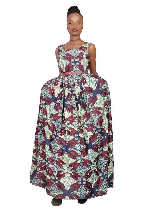 African Clothing Maxi Dress for Women, African Prints Maxi Dress, Ankara  Prints, Afrocentric Clothing, Plus Size Dress