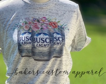 44be3984 Floral beer Shirt | Cute Beer Shirt | natural floral shirt | Summer Floral  Shirt | BUSCH