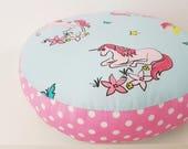 Floor Cushion Seated Pillow 30 cm unicorn Horn Nursery Kindergarten