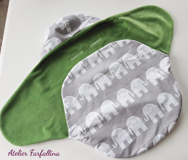 Impact blanket for baby seatPuckdecke Elephant