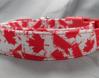 Canadian Flag Dog Collar