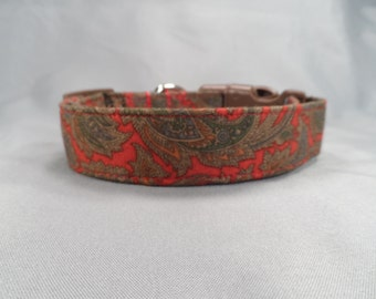 Ralph Lauren Fabric Paisley Dog Collar