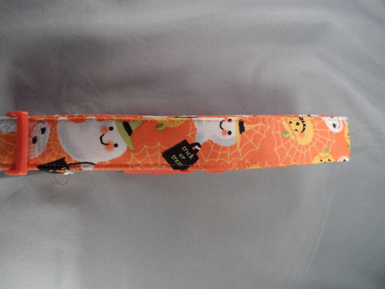 Happy Halloween Characters Orange Dog Collar