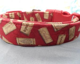 Wine Corks on Red Dog Collar