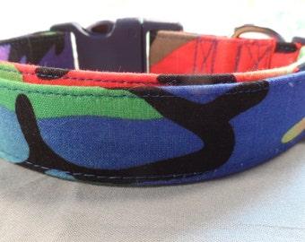 Colorful Camo Dog Collar, Camouflage Dog Collar for Girls or Boys
