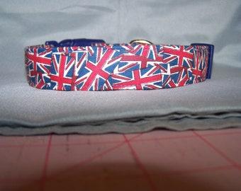 Union Jack British Dog Collar