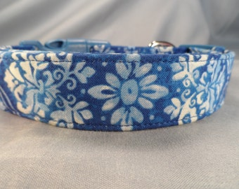 Persian Blue Scroll Dog Collar