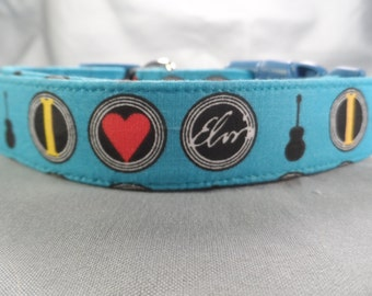 I Love Elvis Dog Collar